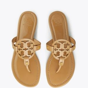 New Tory Burch Miller Patent Tan 8